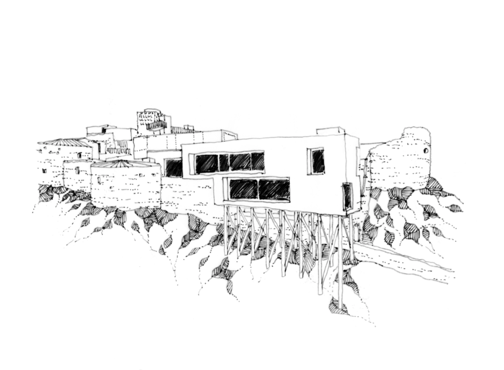 Roccascalegna Observatory Entry Sketch